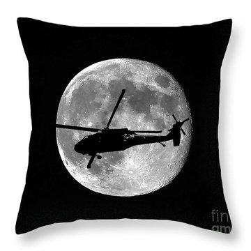 Black Hawk Moon Throw Pillow