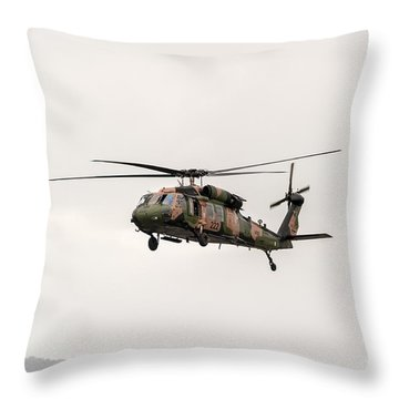 Black Hawk  Throw Pillow