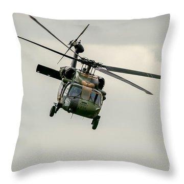 Black Hawk Swoops Throw Pillow by Ray Warren