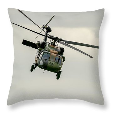 Black Hawk Swoops Throw Pillow