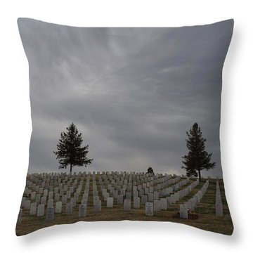 Black Hills Cemetery Throw Pillow