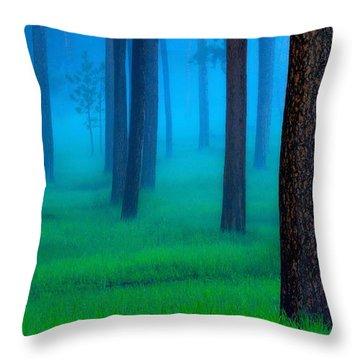 Black Hills Forest Throw Pillow by Kadek Susanto