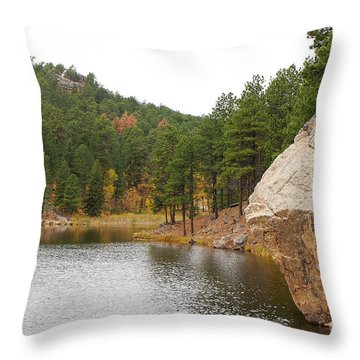 Black Hills Lake Throw Pillow by Mary Carol Story