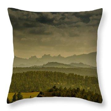 Black Hills Layers Throw Pillow