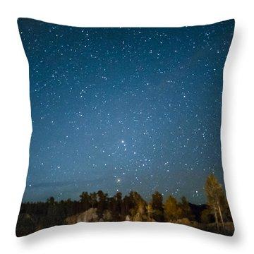Black Hills Night Throw Pillow