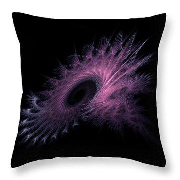 Black Hole Expanding Fractal Art Throw Pillow