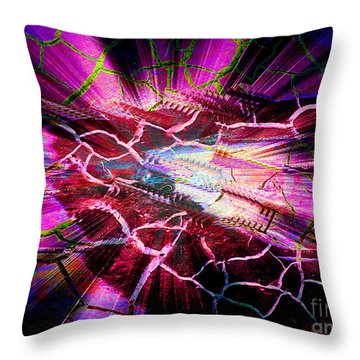 Throw Pillow featuring the digital art Black Hole by Irina Hays