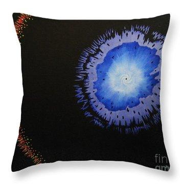 Black Hole Throw Pillow by Lori Ziemba