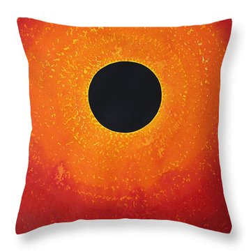 Black Hole Sun Original Painting Throw Pillow