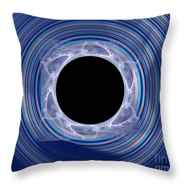 Throw Pillow featuring the digital art Black Hole by Victoria Harrington