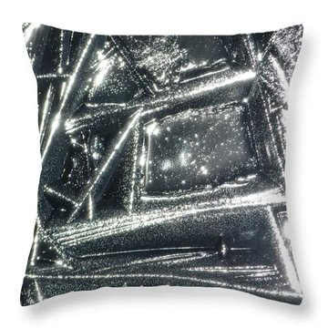 Throw Pillow featuring the photograph Black Ice by Jane Ford