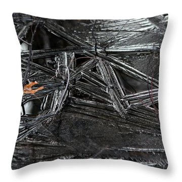 Black Ice Throw Pillow by Kenny Glotfelty