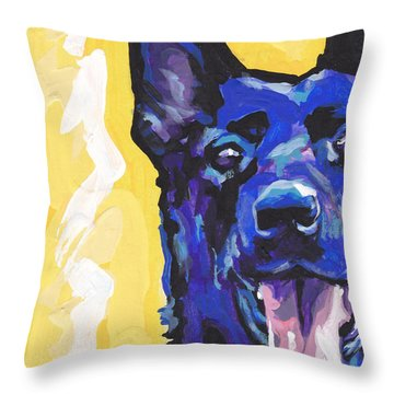 Black Is Black Throw Pillow