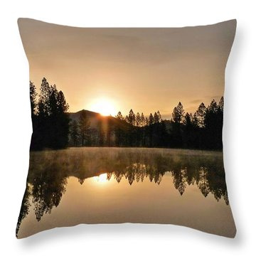 Black Lace Sunrise Throw Pillow