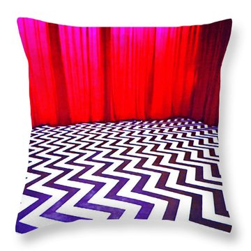 Black Lodge Blues Throw Pillow
