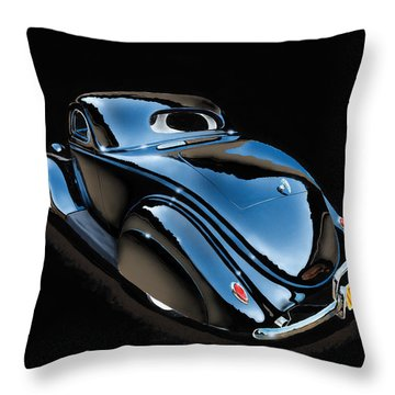 Black Low And Gorgeous Throw Pillow