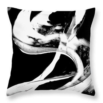 Throw Pillow featuring the painting Black Magic 307 Inverted by Sharon Cummings
