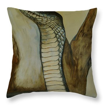 Black Mamba Throw Pillow by Tracey Beer