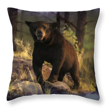 Throw Pillow featuring the painting Black Max by Rob Corsetti