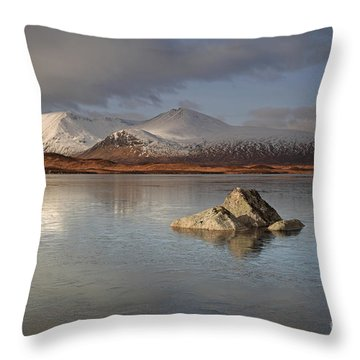 Black Mount And Lochan Na H-achlaise Throw Pillow