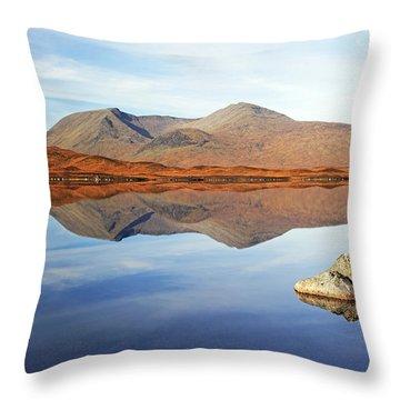 Black Mount Mountain Range Reflection Throw Pillow