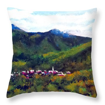 Throw Pillow featuring the painting Black Mountain Nc by Jim Phillips
