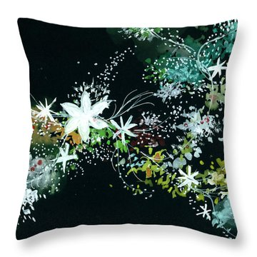 Black N White Throw Pillow