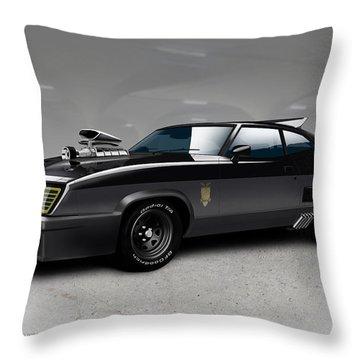 Black On Black Throw Pillow