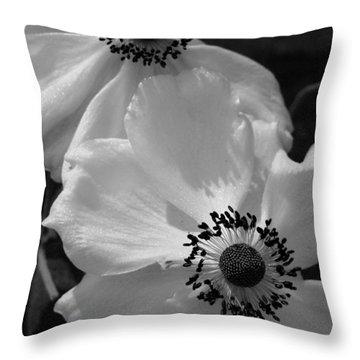 Black On White Throw Pillow by Cheryl Hoyle