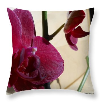 Throw Pillow featuring the photograph Black Orchid by Ramona Matei