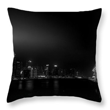 Black Orient Throw Pillow