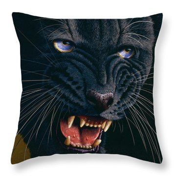 Black Panther 2 Throw Pillow by Jurek Zamoyski