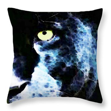 Black Panther Art - After Midnight Throw Pillow by Sharon Cummings