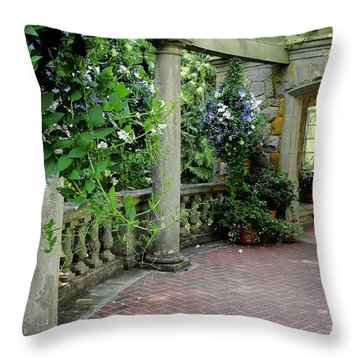 Throw Pillow featuring the photograph Black Petunias by Natalie Ortiz