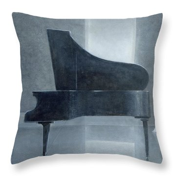 Black Piano 2004 Throw Pillow