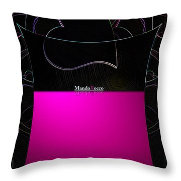 Black Pink Luv Throw Pillow