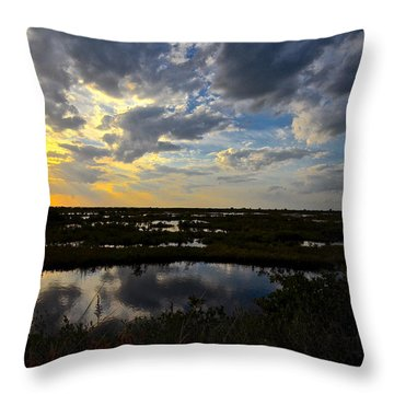 Throw Pillow featuring the photograph Black Point Sunset by AnnaJo Vahle