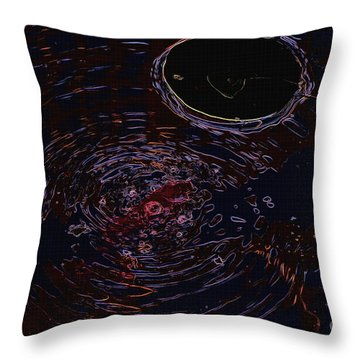 Black Pond Throw Pillow by Erica Hanel