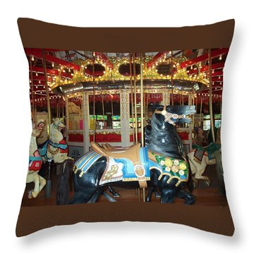 Throw Pillow featuring the photograph Black Pony by Barbara McDevitt