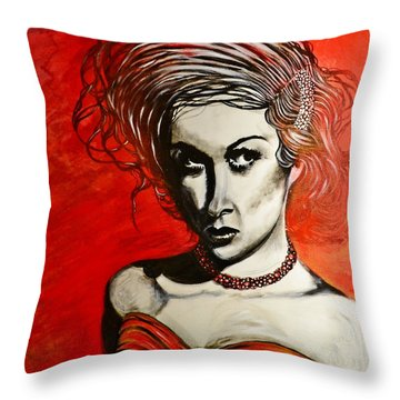 Black Portrait 20 Throw Pillow