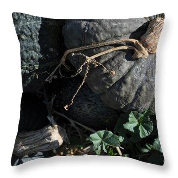 Black Pumpkins Throw Pillow