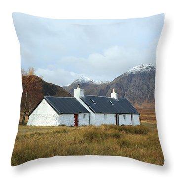 Black Rock Cottage Throw Pillow