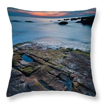 Black Rock Throw Pillow by Davorin Mance