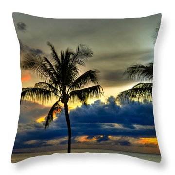 Black Rock Ka'anapali  Throw Pillow