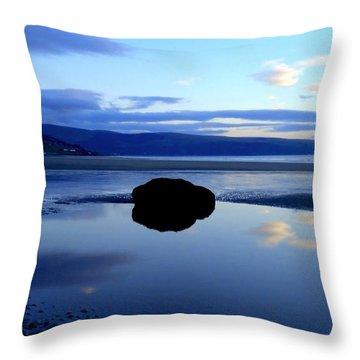 Black Rock Throw Pillow
