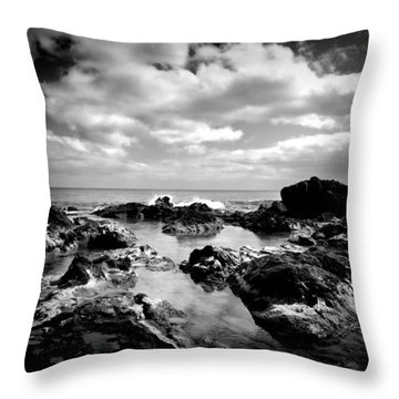 Black Rocks 1 Throw Pillow
