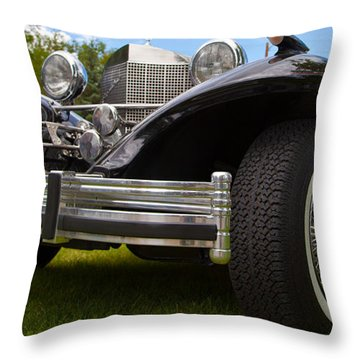 Black Rod Throw Pillow by Mick Flynn