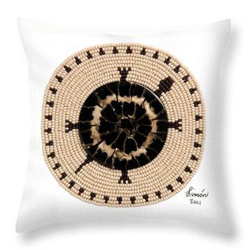 Black Shell Throw Pillow
