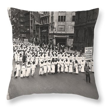 Black Silent Protest March Throw Pillow