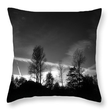 Black Sky Throw Pillow